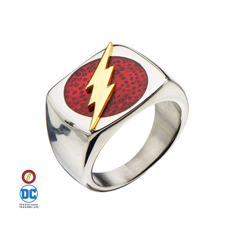 DC Comics The Flash Raise Lightning Bolt Ring