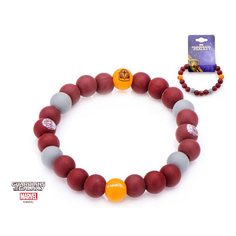 Marvel Guardian of the Galaxy Logo Silicone Beads Bracelet
