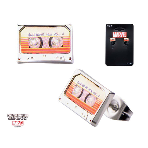Marvel Guardians of Galaxy Awesome Mix Vol. 2 Tape Stud Earrings