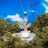 Marvel Guardians of the Galaxy Dancing Baby Groot Pendant Necklace
