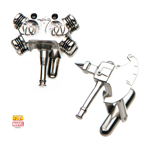 Marvel Hulk Axe & Hammer Cufflinks