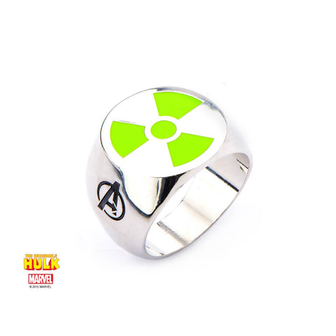 Marvel Green Radioactive Hulk Logo Ring