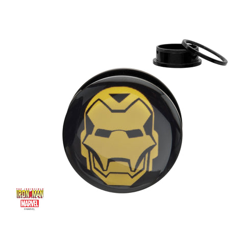 Marvel Yellow Ironman Logo Acrylic Screw Fit Plug