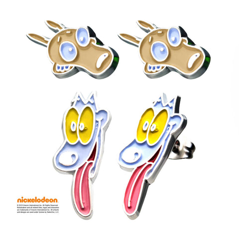 Nickelodeon Rocko and Spunky Stud Earrings Set