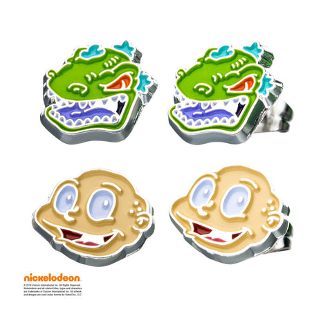 Nickelodeon Tommy and Reptar Stud Earrings Set
