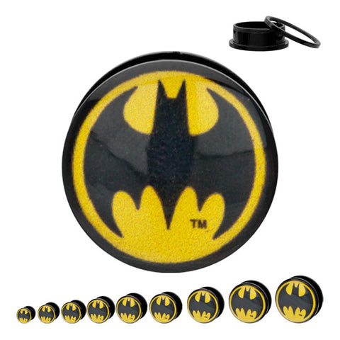 DC Comics Rounded Batman Logo Acrylic Screw Fit Plug