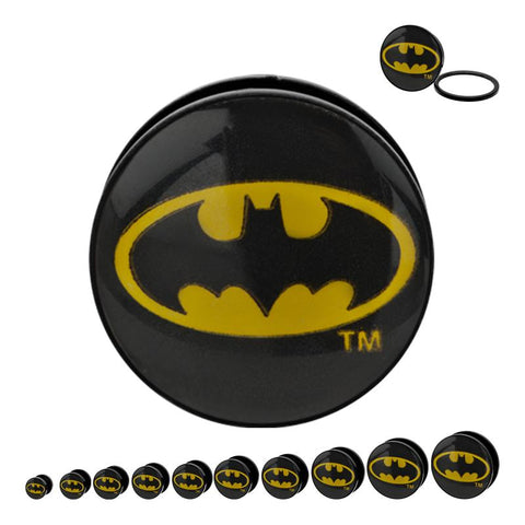 DC Comics Oval Batman Logo Acrylic Screw Fit Plug