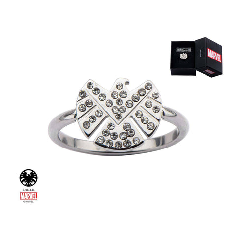 Marvel S.H.I.E.L.D Logo with CZ Petite Ring