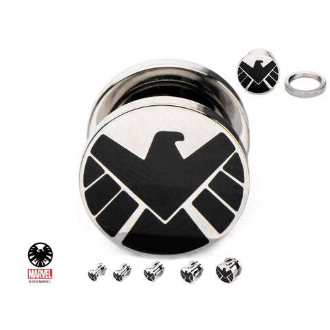 Marvel S.H.I.E.L.D. Logo Screw Fit Plug