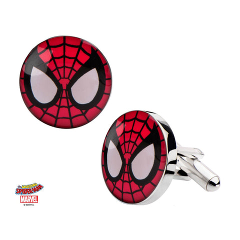 Marvel Spider-Man Head Cufflinks