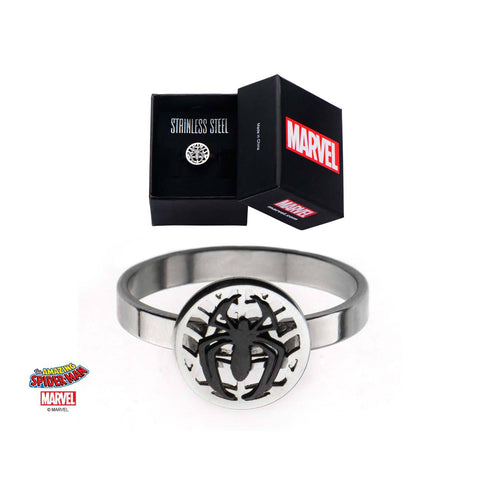Marvel Cut Out Spider Ovelapped on Spider Web Petite Ring