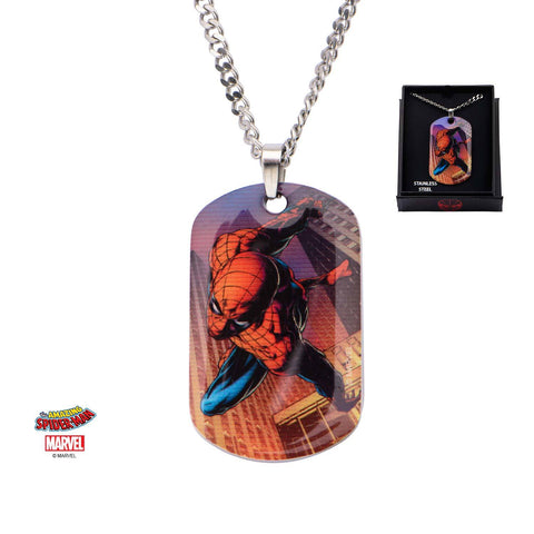 Marvel Spider-Man Dog Tag Pendant Necklace