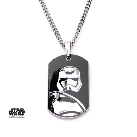 Star Wars Episode 7 Captain Phasma Dog Tag Pendant Necklace