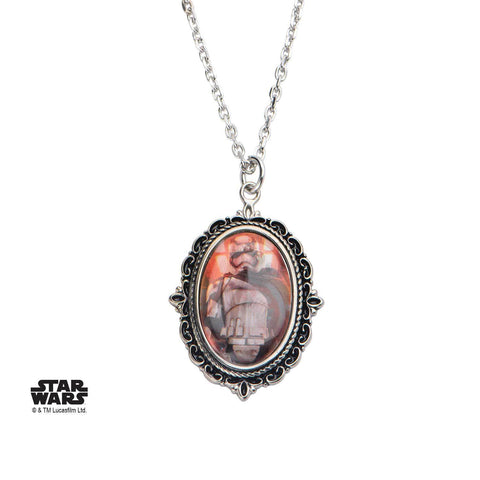 Star Wars Episode 7 Captain Phasma Cameo Pendant Necklace