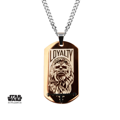 Star Wars Episode 7 Chewbacca Loyalty Brown Dog Tag Pendant Necklace