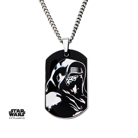 Star Wars Episode 7 Epidsode 7 Kylo Ren Dog Tag Pendant Necklace