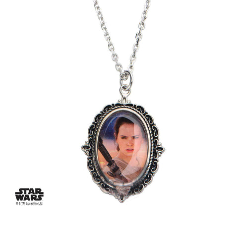 Star Wars Episode 7 Rey Cameo Pendant Necklace