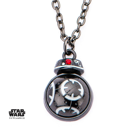 Star Wars Episode 8 BB-9E Spinning Bottom Pendant Necklace