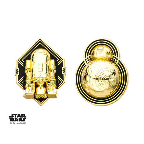 Star Wars Episode 8 BB-8 and R2-D2 Enamel Lapel Pin