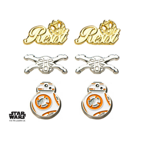 Star Wars Episode 8 Resistance Stud Earrings Set