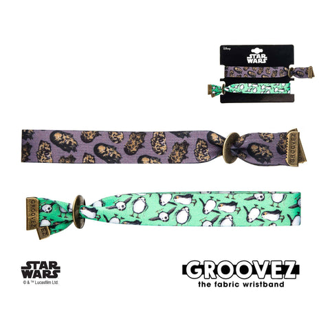 Star Wars Episode 8 Chewbacca and Porg Groovez Bracelet Set