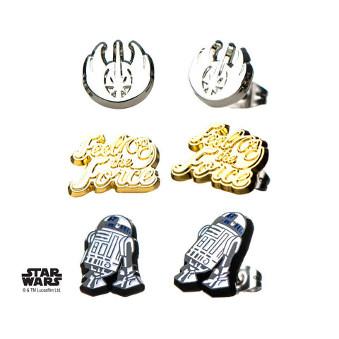 Star Wars Episode 8 Jedi Stud Earrings Set