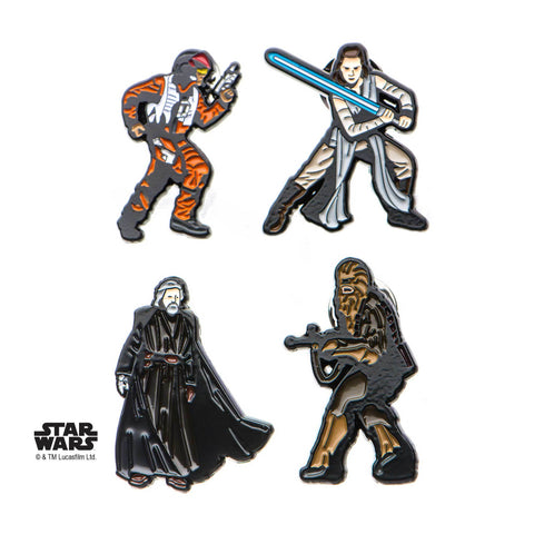 Star Wars Episode 8 Enamel Lapel Pin Set (4pcs)