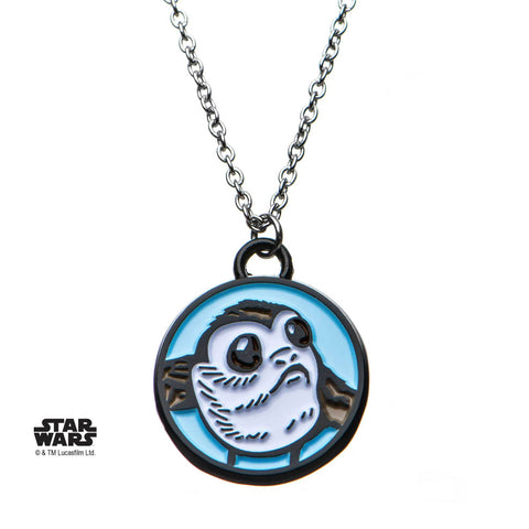 Star Wars Episode 8 Porg Enamel Pendant Necklace