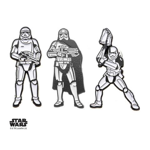 Star Wars Episode 8 Stormtrooper Enamel Lapel Pin Set