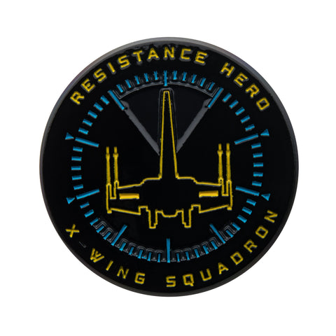 Star Wars Episode 9 Resistance Hero Glow in the Dark Lapel Pin.
