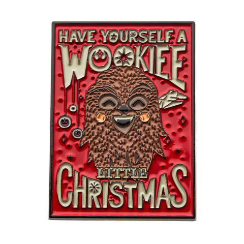 "Star Wars ""Have yourself a Wookie Little Christmas"" Lapel Pin"