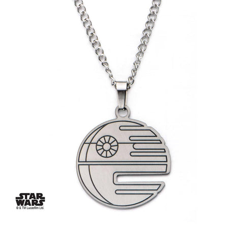 Star Wars Cut Out Death Star Flat Pendant Necklace