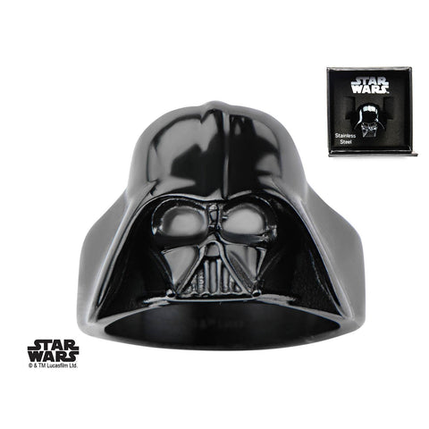 Star Wars Black Plated 3D Darth Vader Ring