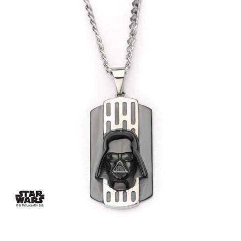 Star Wars 3D Darth Vader Dog Tag Pendant Necklace