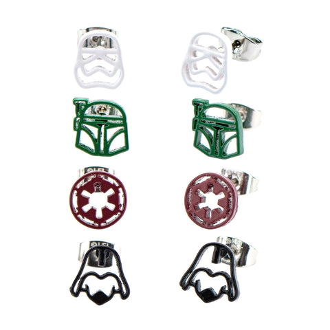 Star Wars Imperial Symbol Stud Earrings Set (4pcs)