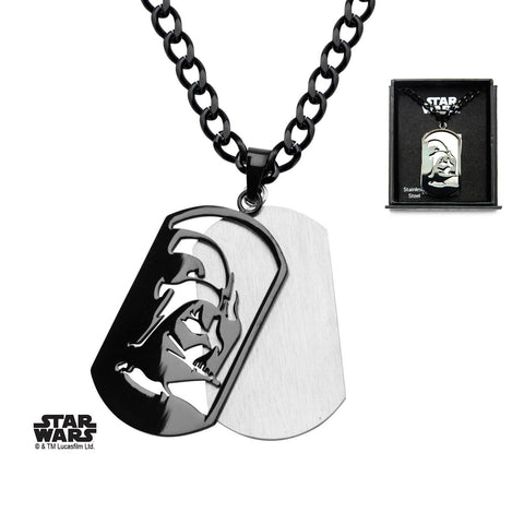 Star Wars Darth Vader Layer Dog Tag Pendant Necklace