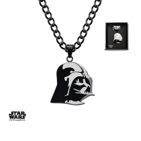 Star Wars Etched Darth Vader Pendant Necklace