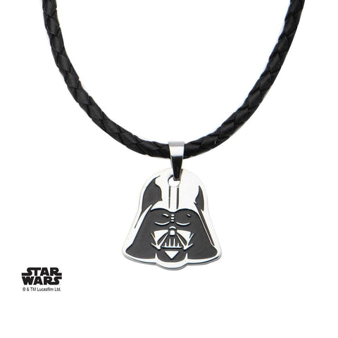 Star Wars Darth Vader Small Pendant with Black Leather Necklace