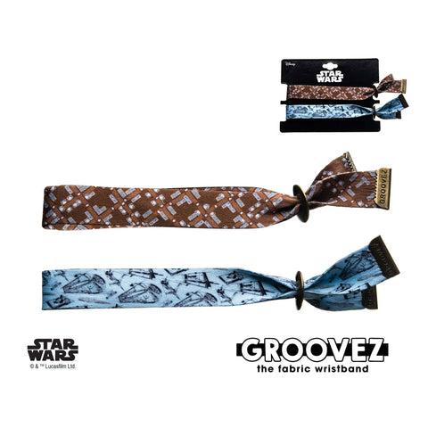 Star Wars Chewbacca and Han Solo Groovez Bracelet Set