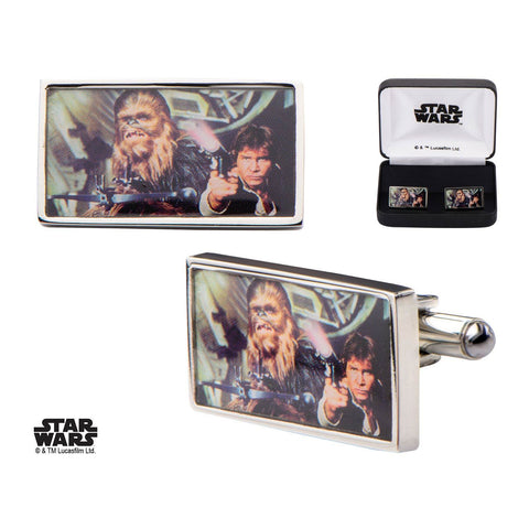 Star Wars Han Solo Printed Square Cufflinks