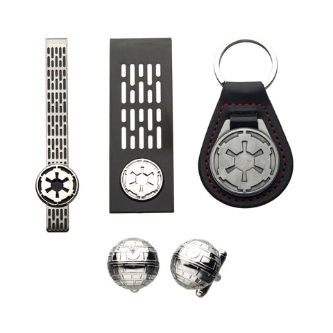 Star Wars Imperial Symbol Key Chain, Money Clip, Tie Clip, Cufflinks Set
