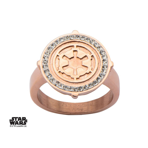 Star Wars Galactic Empire Symbol with CZ Ring