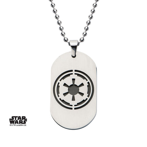 Star Wars Galactic Empire Symbol Dog Tag Pendant Necklace