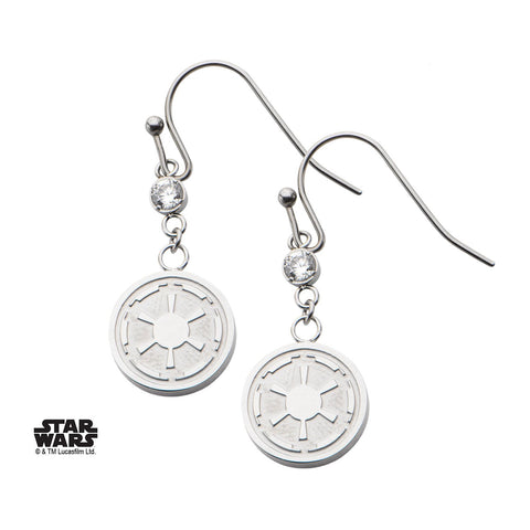 Star Wars Galactic Empire Symbol Hook Dangle Earrings