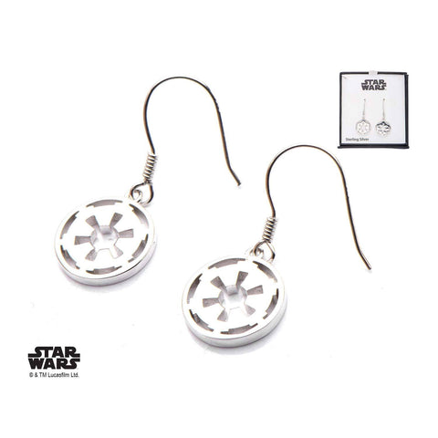 Star Wars Cut Out Galactic Empire Symbol Dangle Earrings