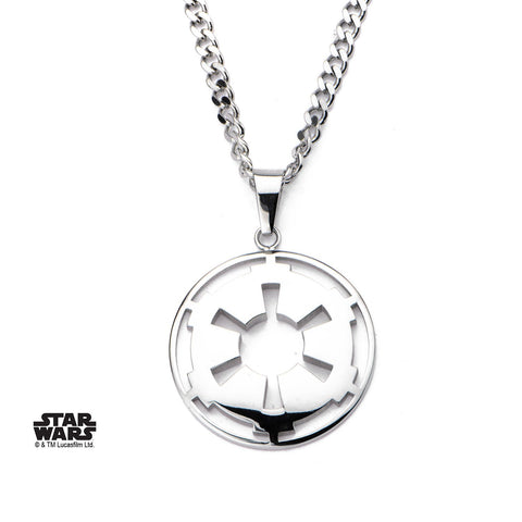 Star Wars Cut Out Galactic Empire Symbol Small Pendant Necklace