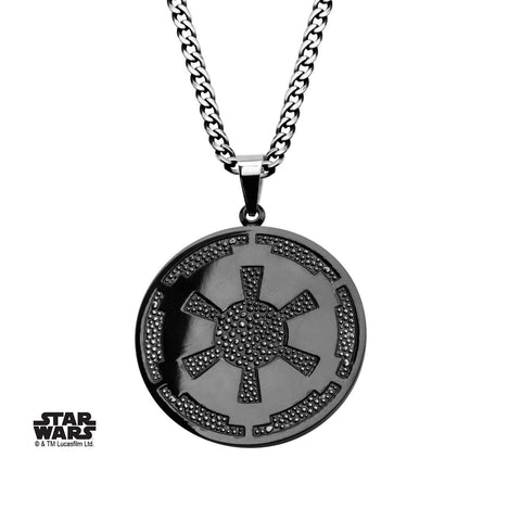 Star Wars Galactic Empire Symbol Gun Metal Pendant Necklace