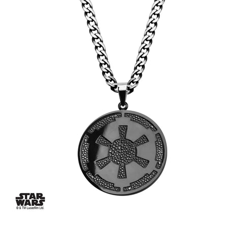 Star Wars Galactic Empire Symbol Gun Metal Small Pendant Necklace