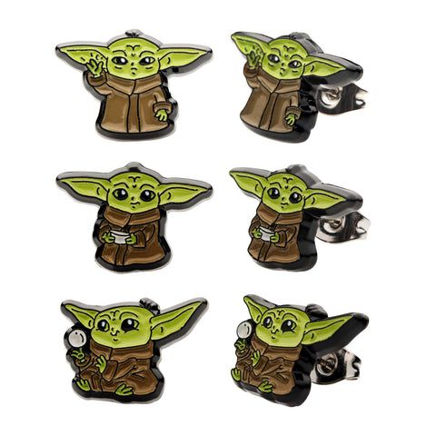 Star Wars Mandalorian The Child Baby Yoda Stud Earrings Set (3pcs)