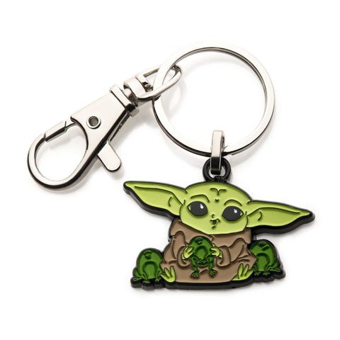 Star Wars Mandalorian The Child Baby Yoda with frogs Key Chain